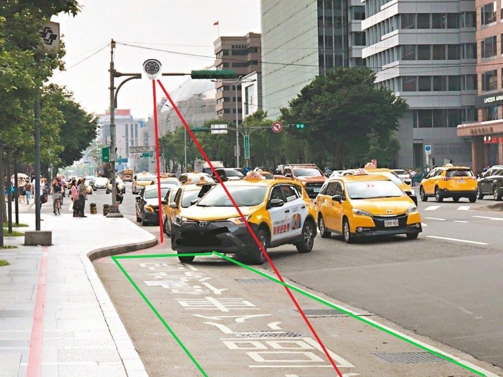 臺北市市府轉運站 科技執法取締範圍